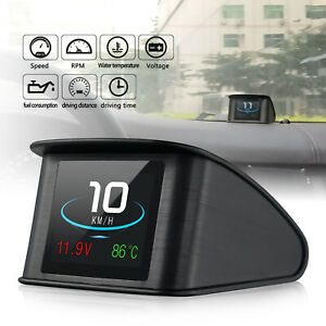 P10 Premium Smart Vehicle Digital Hud Head Up Display Obd2 Car Speed Projector