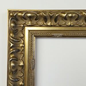 Picture Frame 20x24 Vintage Antique Style Baroque Pale Gold Gray Ornate 2010