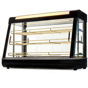 Food Court Restaurant Heated Food Pizza Display Warmer Cabinet Case 36 Glass