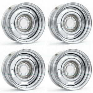 15x7 Vision 57 Rally 5x5 5x127 6 Chrome Wheels Rims Set 4