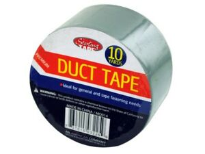 Duct Tape Adhesive Plastic Grey 25 Roll Bundle