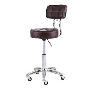 Office Drafting Chair Pu Leather Desk Seat Adjustable Swivel Rolling Stool Tax 0