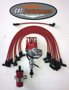 Ford 221 260 289 302 Sbf Small Cap Electronic Distributor Upgrade Kit Red