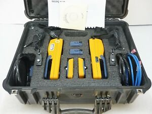 Fluke Dtx 1200 Digital Cable Analyzer Cat6 2x Pla001 2x Cha001a