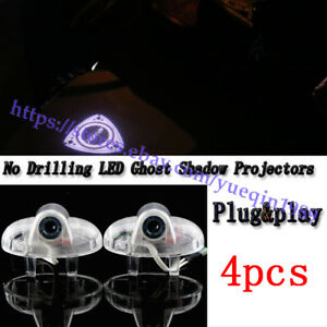 4pc Led Light Car Door Projector Welcome Rx8 Logo Kit For Mazda Rx 8 2001 2018