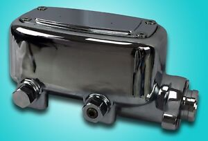 Chrome Aluminum Master Cylinder With Built In Proportioning Valve 1 1 8 Bore New