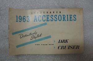 1963 Studebaker Lark Wagonaire Cruiser 1963 Accessories Booklet
