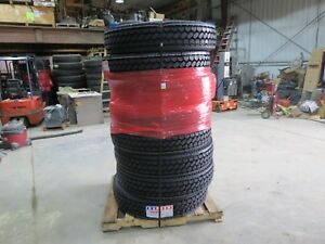 11r24 5 Tires Set Of 8 New Closed Shoulder 16 Ply Semi 120 Psi