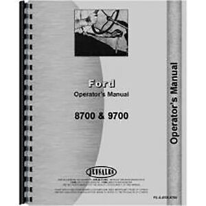 Operators Manual For Ford 8700 Diesel Tractor
