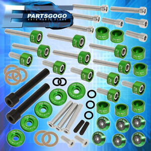 Cup Header Cam Cap Washers m8 Racing Fender valve Cover Washer D series Green