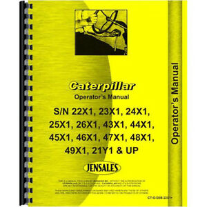 For Caterpillar D5b Tractor Operators Manual new