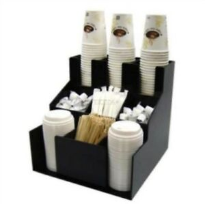 Caddy Coffee Cup Lid New Dispenser Organizer Coffee Condiment Holder Cup Ra Ym