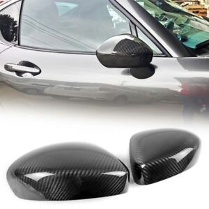 Outside View Mirror Cover Trim Carbon Fiber For Mazda Mx 5 Miata Roadster 2018