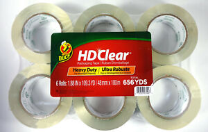 Duck Hd Clear Heavy Duty Packaging Tape Refill 1 88 X 109 3 Yd 6 Rolls