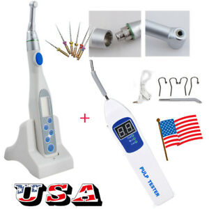 Dental Cordless Endodontic Endo Motor Handpiece Pulp Tester Test Teeth Nerve