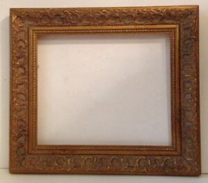 Vintage Ornately Carved Gold Gilded Wooden Picture Frame 16 1 4 X 14 1 4