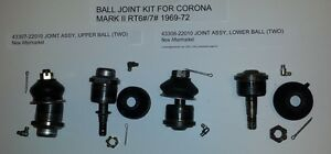 Toyota Corona Mark Ii 1969 72 Rt6 7 Ball Joint Kit 4330x bjkit rt67