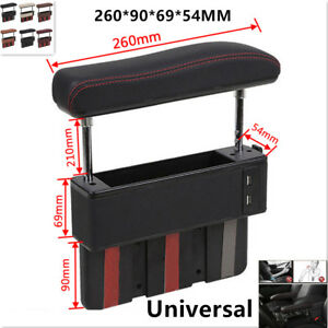 1xuniversal Car Vehicle Driver Seat Pocket Storage Armrest Box Organizer Holder