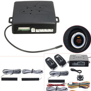 Pke Car Alarm System Keyless Entry Push Button Remote Control Engine Start Stop