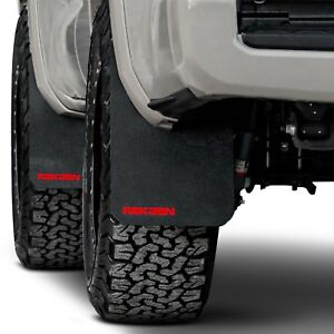 For Toyota Tacoma 2016 2017 Rek Gen T1004 Rally Edition Mud Flaps W Red Logo