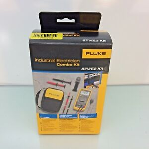 New Fluke 87v e2 Industrial Electrician Combo Kit Digital Multimeter W Temp