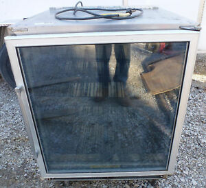 Skf27b Silver King Under Counter Merchandising Freezer On Casters Glass Door