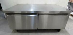 Qualserv 53x36x24 Stainless Steel 2 Drawer Mobile Stand Prep Table Equipment 2