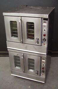 Montague 2 115ag Series Full Size Double Stack Natural Gas Convection Oven