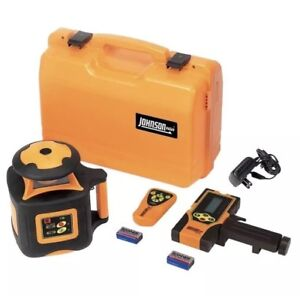 Johnson Electronic Self Leveling Horizontal Rotary Laser Level Indoor Outdoor