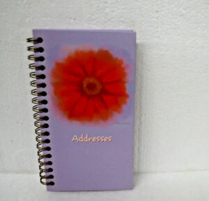 Day Timer Morrow Florals Compact Telephone Address Book 6 3 4 X 4 Purple Cover
