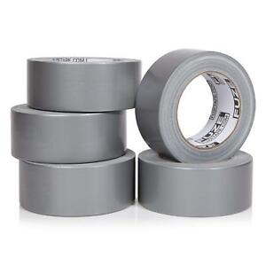 New Heavy Duty Silver Duct Tape 5 Roll Multi Pack Industrial Lot