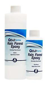 Rain Forest Epoxy Commercial Grade Crystal Clear Epoxy Resin For Bar Tops