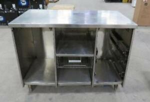 48x27x37 All Stainless Steel Cabinet Storage Table Work Bench Counter