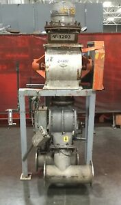 Semco Stainless Rotary Airlock Valve 14 X 17 On Stand W Diverter Valve 4