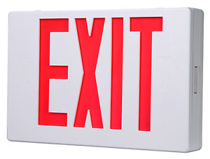 Cooper Lighting Led Exit Sign Battery Back up Red White Thermoplastic Apx7r