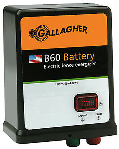 Gallagher North America Electric Fence Charger B60 0 6 Joules 12 volt G351504