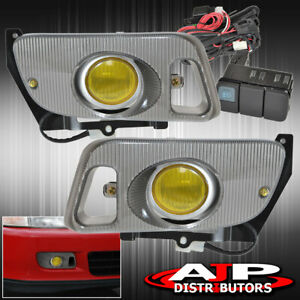 1992 1995 Honda Civic Coupe Hatchback Front Bumper Fog Light Lamp Yellow Len