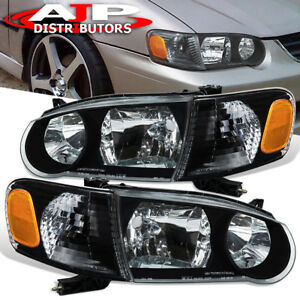2001 2002 Toyota Corolla Jdm Black Housing Headlight corner Amber Signal Lamps