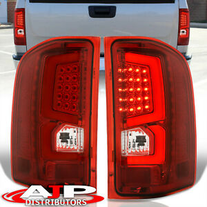 07 13 Silverado 1500 Direct Replacement Led Brake Tail Lights Lamps Pair Red Len
