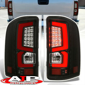 07 13 Silverado 1500 Direct Replacement Led Brake Tail Lights Lamps Pair Black