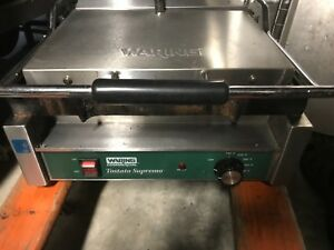 Waring Tostato Supremo Sandwich Grill Smooth Surface Good Used Unit