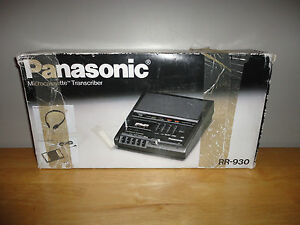 Vintage Panasonic Microcassette Transcriber Recorder In Original Box Rr 930
