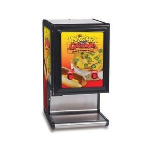 Gold Medal El Nacho Grande 5301 Dual Cheese Chili Commercial Heated Dispenser