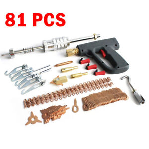 81pcs Stud Welder Dent Puller Kit Spot Welding Gun Switch Pulling Repair Tools