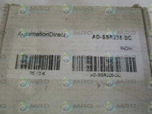 Automation Direct Ad ssr225 dc Solid State Relay as Pictured New In Box