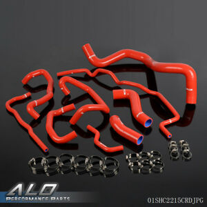 Silicone Radiator Coolant Hose Kit For Volkswagen 99 06 Golf Mk4 1 8t Turbo Red