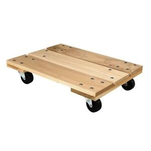 Heavy Duty Hardwood Dolly Furniture Appliances Mover Rolling Mobility 800 Lbs