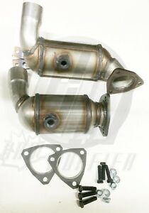 Jaguar X type 2 5l 3 0l Pair Of Both Front Catalytic Converters 8h04 48 49