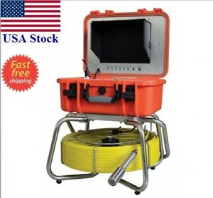Sewer Drain Self Leveling 1 Camera 10 Lcd 200ft Cable 512 Hz Sonde Transmitter
