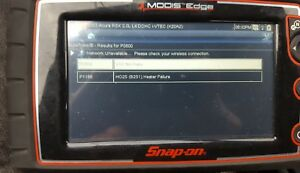 Snap On Modis Edge Scan Tool With Full Connector Adapter Set And Original Case